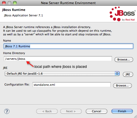 JBoss linking to eclipse